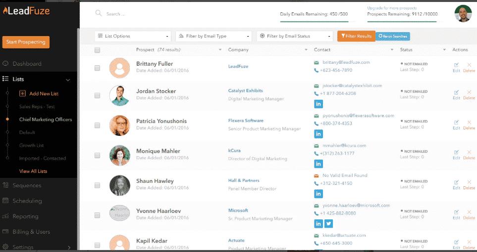 Leadfuze linkedin tool