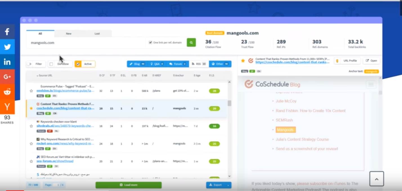 Top 15 des outils de vérification du backlink 2